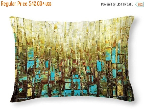 throw pillows covers 14x14 16x16 18x18 20x20 26x26 20x14 mid century modern art abstract accent blue brown decorative sofa couch cushions