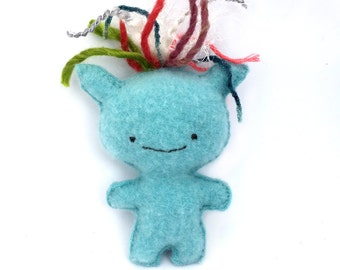 Blue Goblin - Recycled Cashmere Sweater Plush Toy