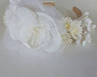 Bridal Headband Wedding Hair Accessories Flower Headband Hair Jewelry Grecian Headpiece