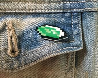 Legend of Zelda Rupee pin (choose a color)