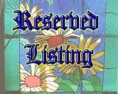 Reserved listing for franklinrd