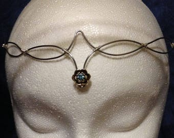 Stunning stainless steal bejeweled elven circlet adjusable