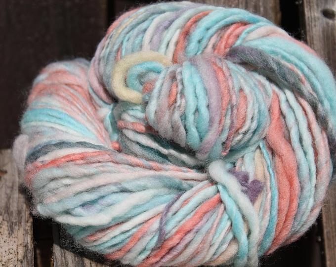 Handspun and dyed Falkland yarn. Next to skin soft. Appx, 4oz /140 yards. Aran Weight. F163