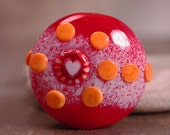 Lampwork Glass Focal Bead Spree Tiny Hearts Lots of Love Series Divine Spark Designs SRA