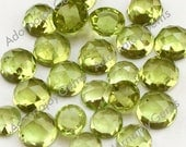 Gemstone Cabochon Peridot 5mm Rose Cut FOR TWO