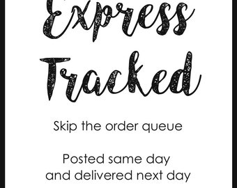 Express Tracked Delivery Add-On