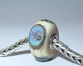 Luccicare Lampwork Bead - Fairy Eyes -  Lined with Sterling Silver