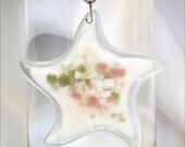 Star Ornament, Star of the East, Glass Ornament, Glass Decoration, Holiday Ornament, Holiday Decoration, Glass Starfish, Fused Glass, 093