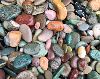 Alaska River rocks - River rocks bulk - Wedding stones - Wedding Favor - Memorial stone - Guestbook alternative - Colorful stone - Rockhound