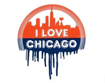 Chicago Baby Gift, Chicago Baby, Chicago Bodysuit, Chicago Onepiece, Chicago Baby Shower, I Love Chicago, Chicago Skyline, Chicago Shirt