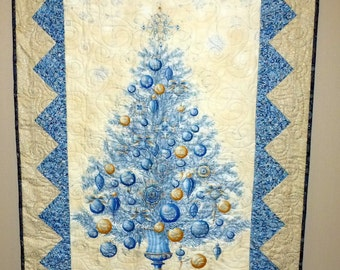 Glimmer Christmas Tree Quilt Throw Wall Hanging