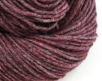 Hand Dyed Aran weight mini Empire Rambouillet Wool 213 yds 4oz Amaranthine