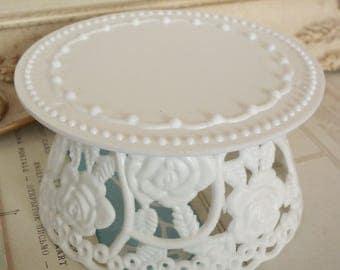 Vintage / Pedestal for Wedding Cake Topper / One Item / Do it yourself / Plastic