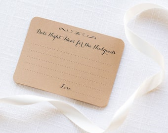 Date Night Cards, Date Night Ideas, Bridal Shower Games, Newlywed Advice, Wedding Advice, Advice Cards, Date Night Game