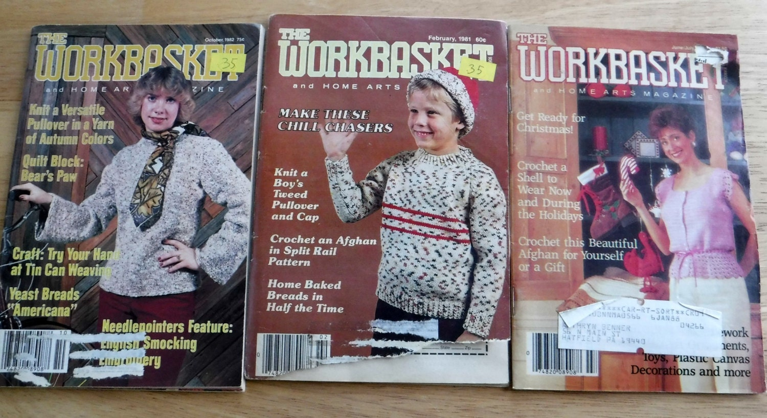 Lot of 12 1980s The workbasket and home arts magazine, vintage ...