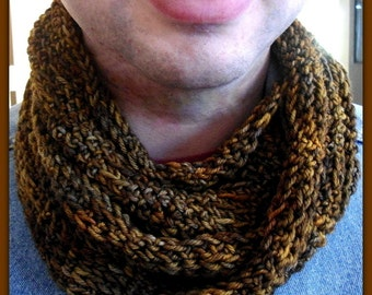 Unisex Crochet Moebius Cowl. Texture For Days-Adult Size-Boutique Quality Yarn-Shipping Included