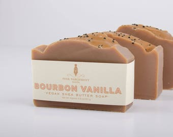 Bourbon Vanilla Soap - Handmade Soap - Cold Process Soap - Soap For Men - Fathers Day Gift - Husband Gift