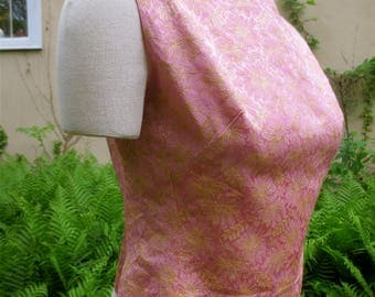 Pink Brocade Sleeveless Top Vintage 1950's   Size 8