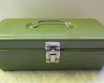 Avocado Metal Box Lock Box Storage Tackle Box