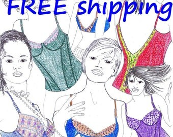 FREE Ship Pattern BHST2 for 2 Bras and BUSTIERS by Merckwaerdigh