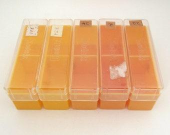 5 Vintage Plastic Slide Boxes - Vintage Boxes lot - Small Organization - 35mm slide boxes - vintage containers