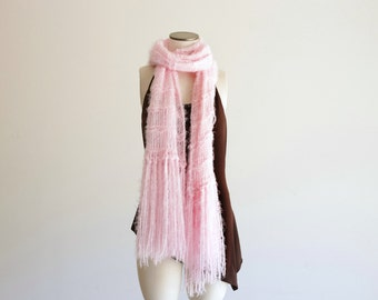 Light Pink Scarf, Pink Soft Scarf Hypoallergenic Scarf for Sensitive Skin Crickets Scarf Womens Clothing Soft Pink Scarf