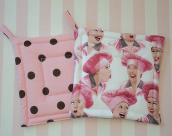 I Lucy Ricardo Candy Factory Potholders