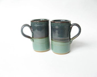 Stoneware Espresso Cups Demitasse Set of 2