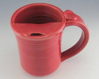 LARGE Mustache Mug/Moustache Mug/Mustache Cup/Mustache Guard Mug 14-16 Ounces/Travelers Mug