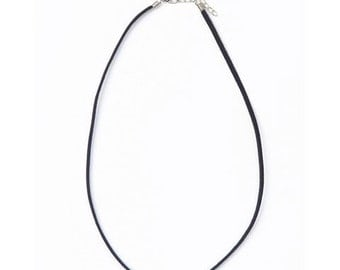 """Leather Cord Necklace by Darice - 18"""" Black Suede Necklace Cord"""