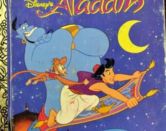 "Vintage Children's Book ""Disney's Aladdin"" Reading for Children"