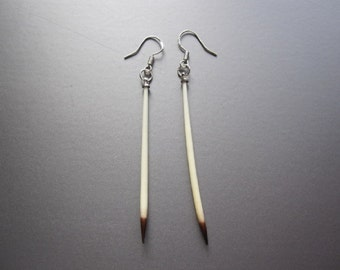 Quill Earrings, Single Quill Earrings, Porcupine Quill Earrings, Gift, Women, Men, Jewelry Earrings, Gift Mother, Gift Sister, Quill Jewelry