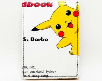Sewn Comic Book Wallet - Pokemon Handbook Wallet - Pikachu (a)