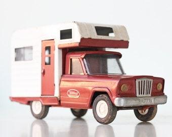 Vintage Tonka Winnebago, Red Toy Camper