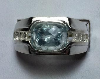 Silver Aquamarine ring