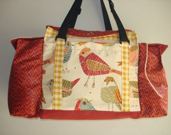 Deluxe Knitting/Crochet Tote Bag/Project Bag/Yarn Organizer-TWITTER