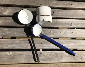instant collection enamelware cups 3 wonderful items small bucket and 2 ladles