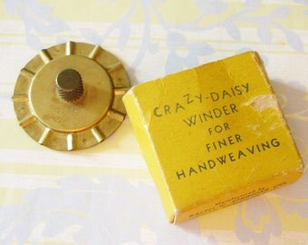 She Was Always a Maker...Vintage Crazy Daisy Winder for Hand Weaving
