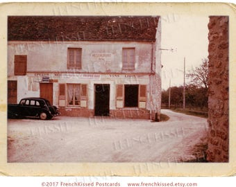 "Rustic French Village Minimalist Monochrome Vintage Vignette 1200 dpi Photo Digital Printable ""Under New Management"""