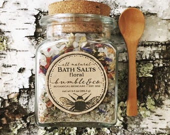 Bath Salts | All Natural Sea Salt Bath | Botanical Bath Soak | Himalayan Bathing Salts | Herbal Bath Salts | Relaxing Bath | Floral Bath