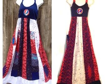 Red white blue dress | Etsy