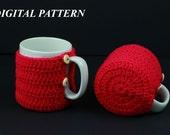 CROCHET PATTERN for cup cosy, cup cosie, mug cosy, mug cosie digital download