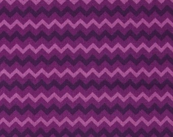HALF YARD- Purple Zig Zag Chevron, Lilac, Dark Purple - SALE