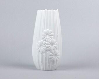 Matte White Kaiser Vase - Michaela Frey - White Porcelain Vase - West Germany vase - Mid Century Modern Home Decor