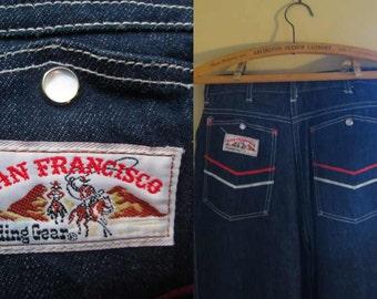 80s High Waist Vintage Levi 80s blue jeans San Francisco Riding Gear Levis vintage Cowgirl Jeans 80s straight leg Vintage denim jeans 28 38