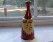 Folk Art Santa Wooden Bell