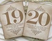 Gold Wedding Table Numbers - Custom Listing