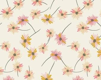 Indie Boheme fabric, Bohemian Fabric, Floral Fabric, Fabric Shoppe, Boho decor, Art Gallery fabrics, Gitan Pardis Pearl- Choose your cut