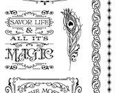 SALE PREORDER Graphic 45 Midnight Masquerade  Stamp  Set 3