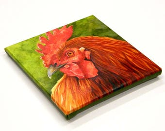 Rooster Art, Canvas Rooster Print, Chicken Art, Chicken Print, Country decor, kitchen decor, farm decor, chicken decor, rooster painting